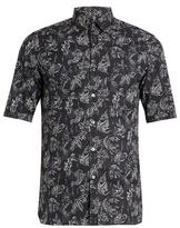 Lanvin Koi-print short-sleeved cotton-voile shirt
