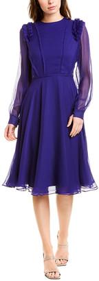 Jason Wu Crinkle Chiffon Silk Midi Dress