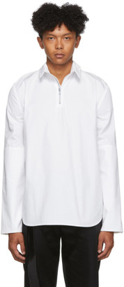 Spencer Badu White Half-Zip Dress Shirt