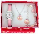 Ravel Little Gems Kids Pink Piggy Watch & Jewellery Gift Set For Girls R2222