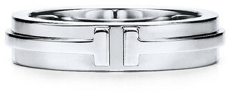 Tiffany & Co. T narrow ring in 18k white gold, 4.5 mm wide