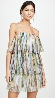 Aje Paperbark Sunray Mini Dress