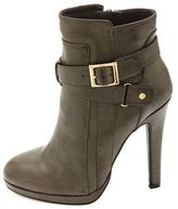 Charlotte Russe Belted High Heel Ankle Booties