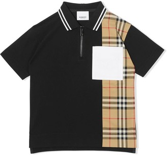 Burberry Matthew Polo Shirt In Black Cotton