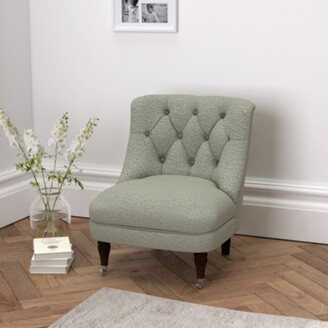 The White Company Richmond Wool Tub Chair , Light Grey Wool, One Size