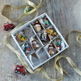 Graham and Green Miniature Festive Tree Decorations Set Of Twelve.