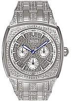 Bulova Men's Crystal Bracelet Watch w/ Pave Dial