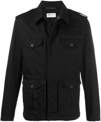 Saint Laurent Embellished Military Jacket