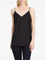 Calvin Klein Charmeuse V-Neck Sleeveless Top