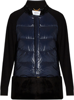 Muveil Faux fur-panel quilted down jacket
