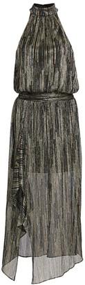 Ramy Brook Monica Metallic Stripe Dress