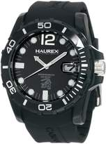 Haurex Italy Men's Caimano Date Dial Rubber Sport Watch N1354UNN