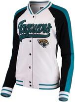 New Era Women's White/Black Jacksonville Jaguars Varsity Full Snap Jacket