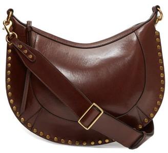 Isabel Marant Naoko Studded-leather Shoulder Bag - Dark Brown