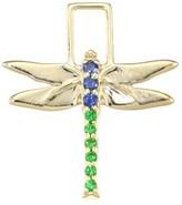 EarWish 14K Yellow Gold, Blue Sapphire & Tsavorite Dragonfly Single Earring Charm