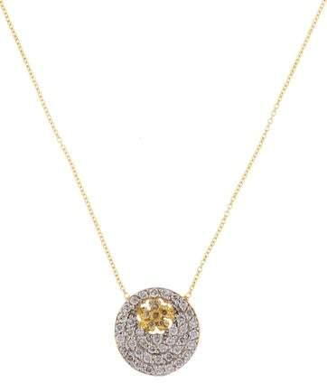 Farah Tanya 18K Diamond Flower Pendant Necklace
