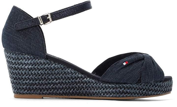 793393f338c Elba 43C1 Denim Espadrille Sandals with Wedge Heel