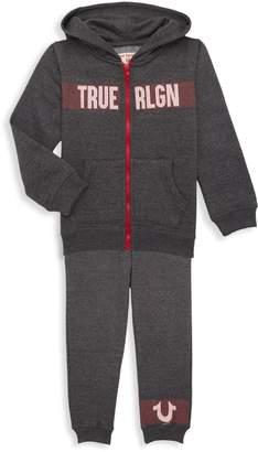 True Religion Little Boy's 2-Piece Cotton-Blend Hoodie & Jogger Pants Set