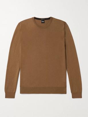 HUGO BOSS Virgin Wool Sweater - Men - Brown