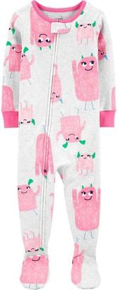 Carter's Baby Girl Footed Pajamas