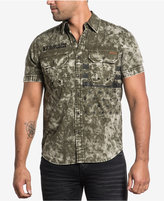 Affliction Men's Dual-Pocket Camo Shirt