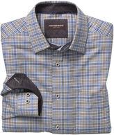 Johnston & Murphy Slash Line Double Windowpane Point-Collar Shirt