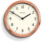 Newgate Spy Wall Clock White - Radial Copper