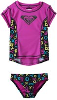 Roxy Girls' Pop Logo S/S Rashguard Set (2yrs6X) - 8132818