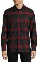 Theory Buffalo Check Wool Shirt Jacket