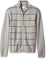 Dockers Full Zip Cotton Milano Windowpane Sweater