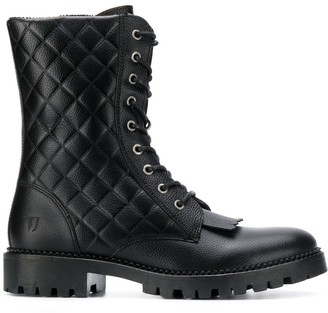 Trussardi Jeans Quilted Ankle Boots