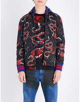 Gucci Space Snake-print Hooded Shell Jacket