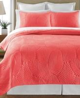 Martha Stewart Collection Collection Cotton Atlantic Palm Coral Standard Sham