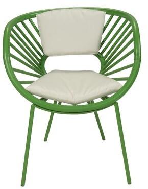 David Francis Furniture Aura Collection Papasan Chair Upholstery Color: Bright Green