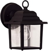 Savoy House 07067-BLK Exterior Collections 1-Light Wall Mount Lantern, Black Finish with Clear Glass