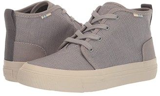 Toms Kids Carlo Mid (Little Kid/Big Kid) (Drizzle Grey Heritage Canvas) Kid's Shoes
