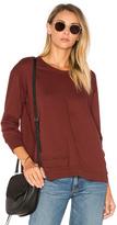 Wilt Shrunken Overlap 3/4 Sleeve Sweatshirt