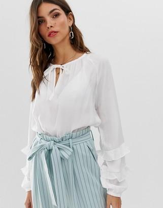 Vila volume sleeve blouse-White