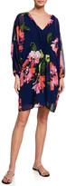 Trina Turk Gentle Floral-Print Long-Sleeve Dress