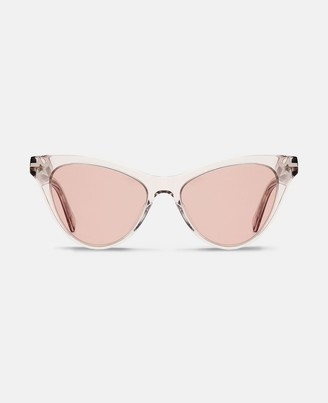 Stella McCartney beige cat-eye sunglasses