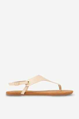 Ardene Faux Leather T-Strap Sandals