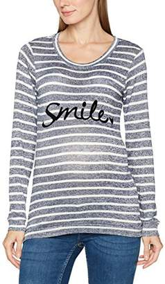 Mama Licious Mamalicious Women's Mlsmile L/s Knit Top V Long Sleeve Top,(Manufacturer Size: Medium)