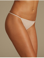 M&S Collection 5 Pack Cotton Rich Low Rise Thongs
