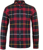 Edwin Labour Red & Black Garment Washed Checked Shirt