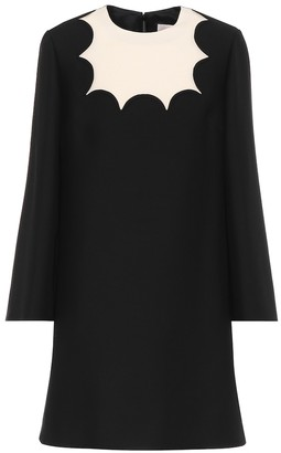 Valentino silk-crepe minidress
