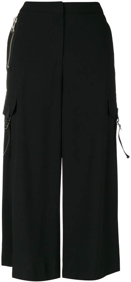 Versus cropped wide-leg trousers