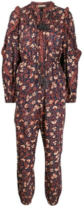 Ulla Johnson Floral Long-Sleeve Jumpsuit