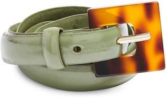 Topshop Tortoiseshell Buckle Skinny Belt