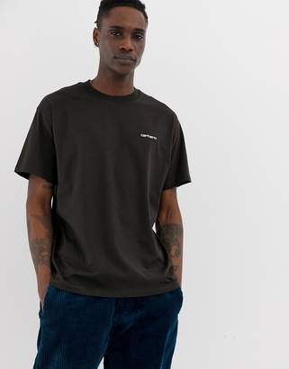 Carhartt Wip WIP Script embroidery t-shirt in tobacco-Brown