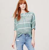 LOFT Shimmer Stripe Softened Shirt